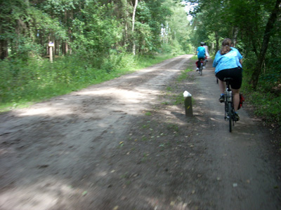 Gravel roads have bike paths in the Netherlands