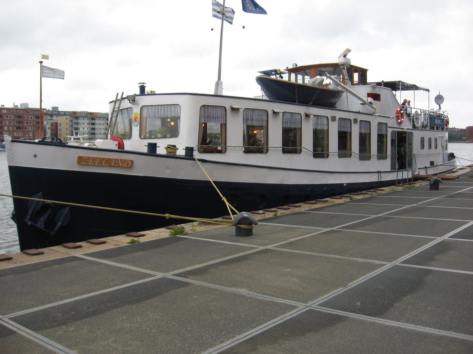 The Zeeland docked in Amsterdam