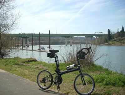 bike Friday and the Abernathy Bridge