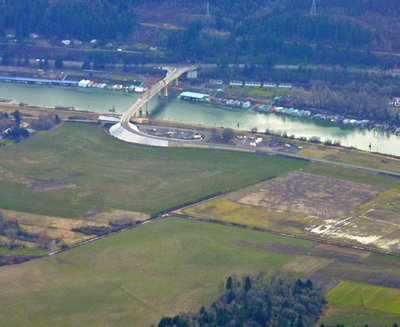 Sauvie Island Bridge by Air