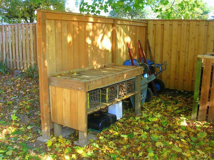 The Potting Bench Will Be Used For All Those Outdoor Projects Needing A  Flat Workspace. The Table Top Is Made From 2x6s Taken From The Railings Of  The Boyu0027s ...