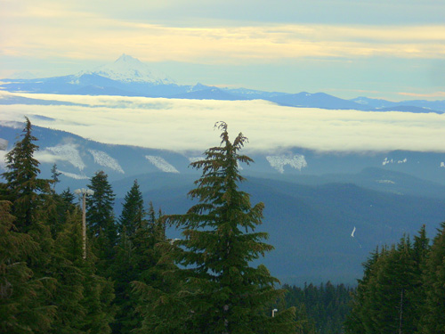 View of Mt Jefferson from Timberline Lodge