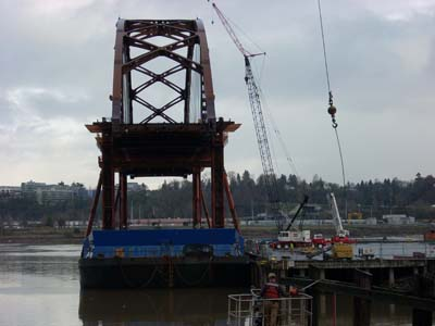 New Sauvie Island Bridge span