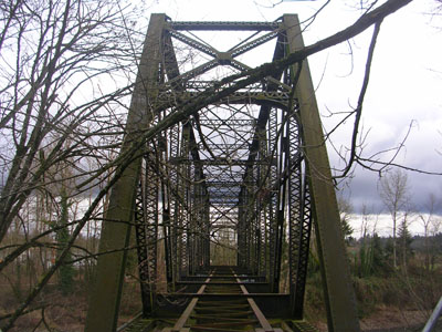 Abandoned  Southern Pacific Bridge over the Clackamas