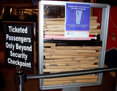 Louisville Slugger bats seized at airport
