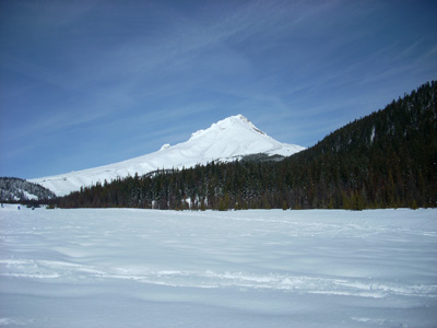 snow shoing on Boy Scout Ridge